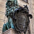 Stock Photo: Bavarilion statue at Munich Residenz palace