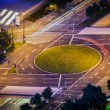 Elevated view of German road junction — Stock Photo