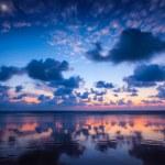 Sunset on Baga beach. Goa — Stock Photo #34472209