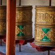 Stock Photo: Buddhist prayer wheels. Diskit, Ladakh