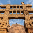 Stock Photo: Gateway decoration Great Stupa. Sanchi, MadhyPradesh, India