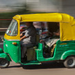 Indian auto in the street. Delhi, India — Stock Photo
