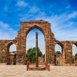 Stock Photo: Iron pillar in Qutub complex