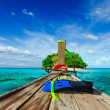 Tropical island in sea — Stock Photo