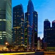 Singapore downtown in evening — Stock Photo #34472853