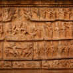 Bas relief. Brihadishwara Temple — Stock Photo