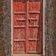 Wooden old door background  — Stockfoto