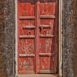 Wooden old door background — Stock Photo