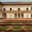 Courtryard of Agra fort. India — Stock Photo