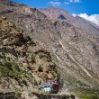Stock Photo: Manali-Leh road in IndiHimalayas