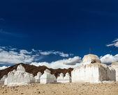 Buddhist chortens, Ladakh — Stock Photo