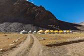 Tent camp in Himalayas — Stock Photo