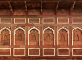 Wall decoration in Agra fort — Stock Photo