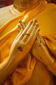 Buddha statue hands in Vajrapradama Mudra — Stock Photo