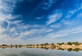 Gadi Sagar - artificial lake. India — Stock Photo
