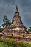 Old chedi in Sukhothai — Stock Photo