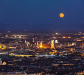 Night aerial view of Munich, Germany — Stock Photo