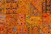 Colorful indian fabric textile — Stock Photo