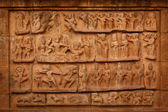 Bas relief. Brihadishwara Temple — Stock Photo