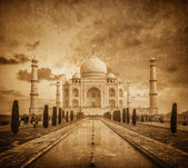 Taj Mahal vintage image, Agra, India — Stock Photo