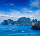 Aerial view of Phi Phi Leh island — Stock Photo