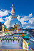 Shanti Stupa, Leh — Stock Photo