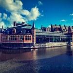canal de Gante. Gante, Bélgica — Foto de Stock