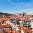 Постер, плакат: View of Stare Mesto Old City and and St Vitus Cathedral