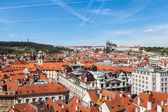 View of Stare Mesto (Old City) and and St. Vitus Cathedral — Stock Photo