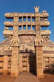 Grande stupa. sanchi, madhya pradesh, índia — Fotografia Stock