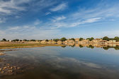 Gadi Sagar - artificial lake. Jaisalmer, Rajasthan, India — Stock Photo