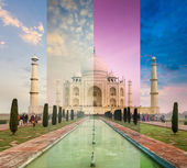 Taj Mahal in different weather, Agra, India — Stock Photo