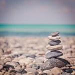 Zen balanced stones stack — Stock Photo #44920429