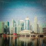Singapore skyscrapers — Stock Photo #44920713
