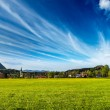 German countryside and village panorama. Germany — Stok fotoğraf