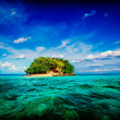 Tropical island in sea — Stok fotoğraf