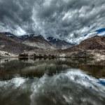 Mountain lake Lohan Tso in Himalayas — Stock Photo #44921707