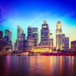 Singapore skyline and river in evening — Stock Photo #44921863