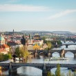 Panoramic view of Prague bridges over Vltava river — Stock Photo #44922059