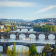 Panoramic view of Prague bridges over Vltava river — Stock Photo #44922071