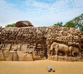 Descent of the Ganges and Arjuna's Penance, Mahabalipuram — Stock Photo