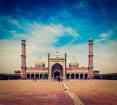 Jama Masjid - largest muslim mosque in India — Stock Photo