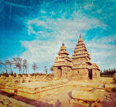Shore temple - World  heritage site in  Mahabalipuram, Tamil Nadu — Stock Photo