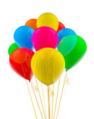 Colorful multicolored balloons isolated on white — Stock Photo