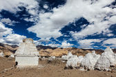 Buddhist chortens, Ladakh — Stock Photo
