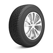 Car winter tire isolated — Stockfoto