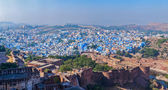 Aerial panorama of Jodhpur - the blue city. Rajasthan, India — Stock Photo