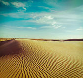 Dunes of Thar Desert, Rajasthan, India — Stock Photo