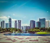 Skyline of Central Business District of Kuala Lumpur, Malaysia — Stock Photo