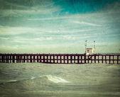 Piren i havet — Stockfoto